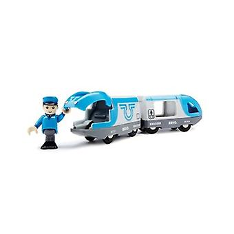 BRIO Travel Battery Train 33506 Battery Powered Train for Wooden Railway Set