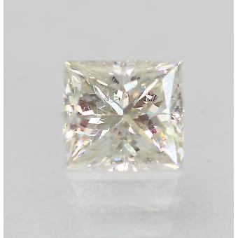 Certified 0.53 Carat H VVS2 Princess Enhanced Natural Diamond 4.67x4.27mm 2VG