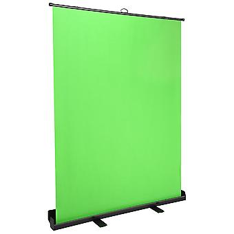 Instahibit Portable Pull Up Green Screen Backdrop Collapsible Chromakey Panel?Auto-locking for Live Game Virtual Studio