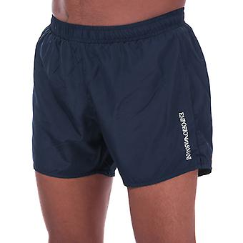 Men's Armani Ultra Light Packable Swim Shorts in Blue