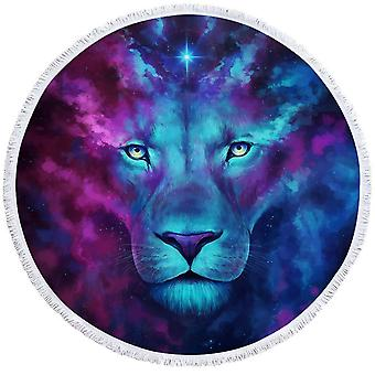 Space Colors Lion Art ranta pyyhe