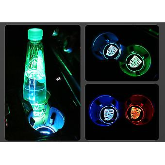 2X For Porsche Led bottom plate for cup holder