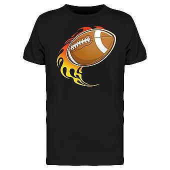 Football On Fire Tee Men's -Image by Shutterstock