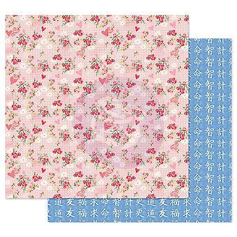 Prima Marketing Traveling Girl 12x12 pulgadas paquete de papel Ollar las flores
