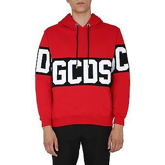 Gcds Cc94m02101303 Heren's Red Cotton Sweatshirt