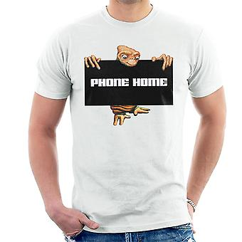 E.T. The Extra-Terrestrial Phone Home Sign Men's T-Shirt