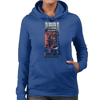 Hammer Horror Films Frankenstein Will Haunt You Forever Women's Hooded Sweatshirt