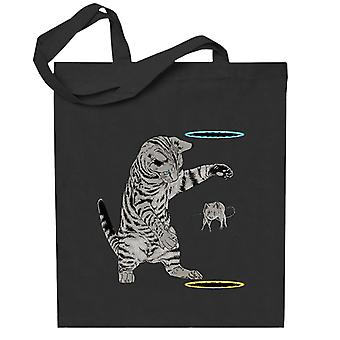 Portal Katze Get That Mouse Totebag