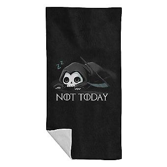 Not Today Sleeping Skull Beach Towel
