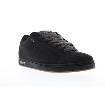 Etnies Kingpin Mens Black Suede Low Top Lace Up Skate Sneakers Shoes