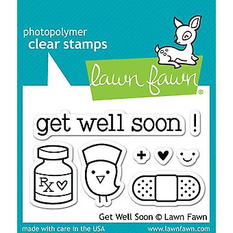 Lawn Fawn Clear Stamps - Get Well Soon