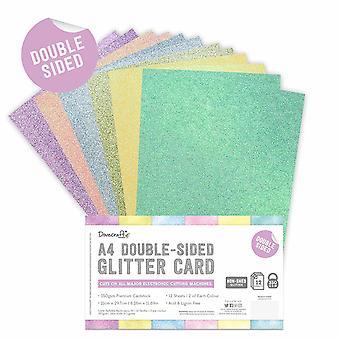 Dovecraft dobbeltsidet Glitter Kofanger Pack A4 Rainbow Pastels