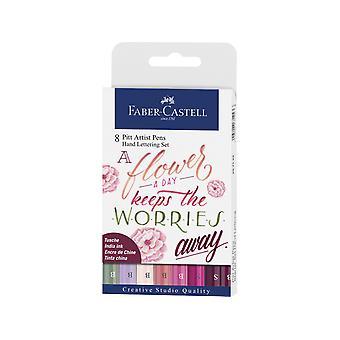 Faber Castell Ritning Penna Pitt Artist Set Handlettering (8st) (FC-267124)
