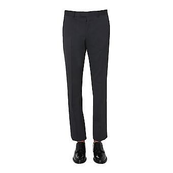Z Zegna 8zf0187fsac28r Men's Black Wool Pants