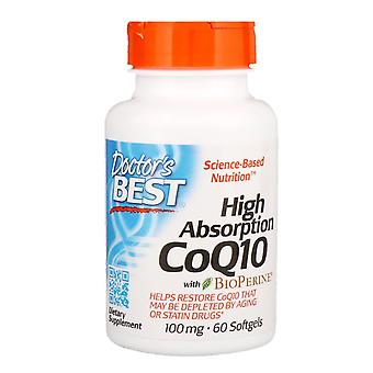 Doctor's Best, High Absorption CoQ10 with BioPerine, 100 mg, 60 Softgels