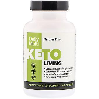 Nature's Plus, KetoLiving, Daily Multi, 90 Capsules