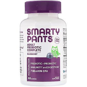 SmartyPants, Adult Probiotic Complete, Blueberry, 60 Gummies