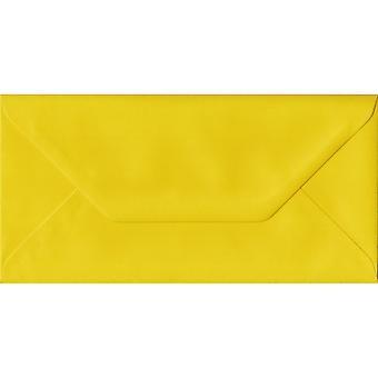 Buste Gialli Sunflower DL Giallo Giallo Buste Gialle. Carta sostenibile FSC 100gsm. 110mm x 220mm. Busta in stile banco.