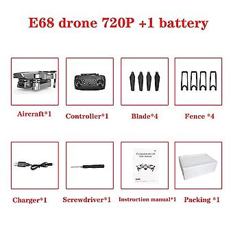 E68 Drone Hd Wide Angle 4k Wifi 1080p Fpv Drone - Video Live Recording