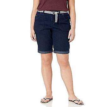 Gloria Vanderbilt Women's Plus Size Mia Belted Bermuda Short, Portland, 18W