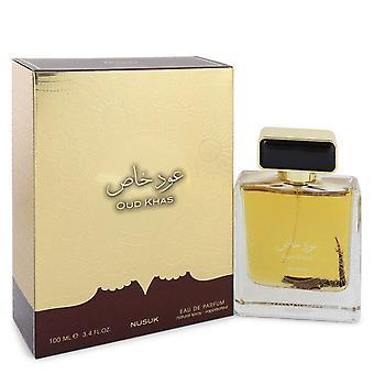 Oud khas eau de parfum spray (unisex) by nusuk 545899 100 ml