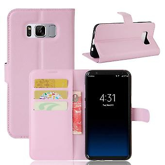 Mobile Shell for Samsung Galaxy S8 Phone Leatherette Protection TPU Mobile Protection Pink