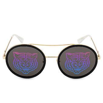 Gucci Round Tiger Sunglasses GG0061S 014 56