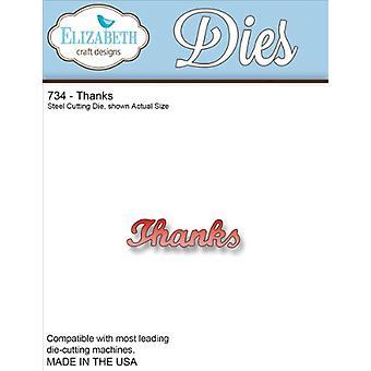 Elizabeth Craft Designs Metal Cutting Die - Thanks