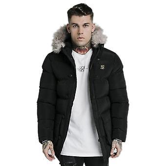 Sik Silk Rip Stop Puff Parka Jacket Black 28