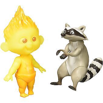 Incredibles 2 Jack-Jack & Raccoon Action Figures 12Inch Kids Toy