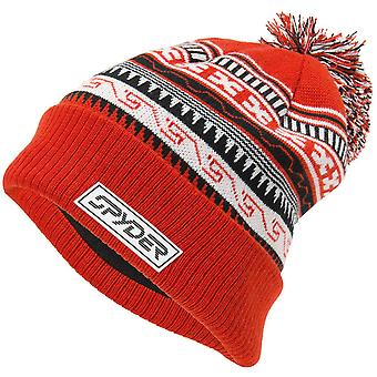 Spyder HERITAGE Hommes Bobble Winter Ski Hat Rouge
