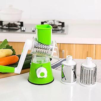 Multifunktionale manuelle Gemüse Spiral Chopper Slicer Käsegrater, Gemüse