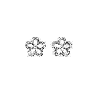 Hete diamanten zilveren zachte oorbellen DE583