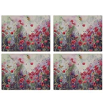 iStyle Poppy Field Set of 4 Placemats