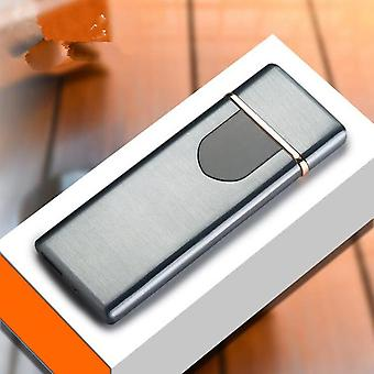 Usb Charging Cigarette Lighter - Touch Sensing Switch  Double Sided Lighter - Windproof Flameless Electronic Lighters No Gas