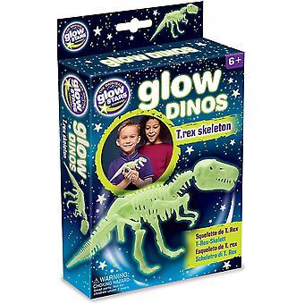 The Original Glowstars Company Glow Dinos T Rex Skeleton