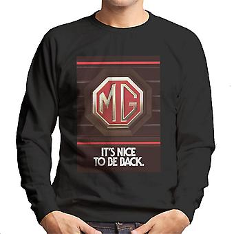 MG Sin Nice Å Være Tilbake British Motor Heritage Menn&Apos;s Sweatshirt
