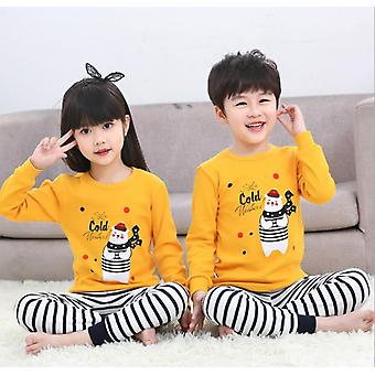 Enfants, Coton de printemps, Pyjamas Homewear Vêtements de nuit Set-1