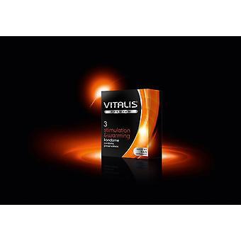 Vitalis stimularea & încălzirea prezervativelor - pachet de 3