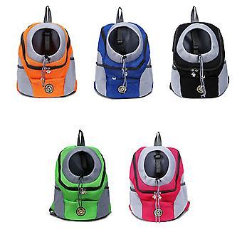 Double Shoulder Portable Travel Backpack Outdoor Pet Dog Carrier Bag Pet Dog Front Bag Mesh Backpack Head