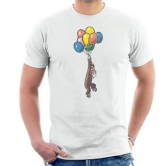 Utelias George Balloon Flying Hat Men's T-paita