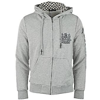 Aquascutum Waterfield Logo Grey Zip Hoodie