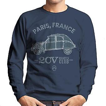 Citro?n 2CV Drivers Club Paris France Men's Sweatshirt