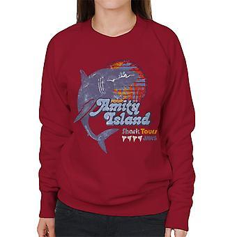 Mandíbulas Amity Island Shark Tours Logo Mujeres's Sudadera