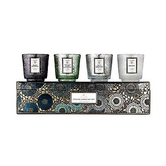 Giftset Voluspa 4 Pedestal Candle - Cool Tones Japonica