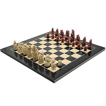De middeleeuwse Berkeley-Chess Black kardinaal Chess Set