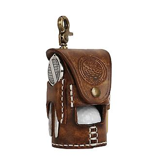 2-balls Vintage Portable, Golf Ball Bag, Pouch Tee Holder For Leather Waist,