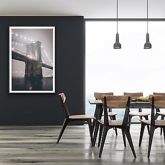 Brooklyn Bridge Black And White Photographic Art Print