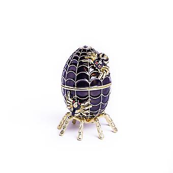 Faberge Egg Spiderweb Decoration Musique Playing-trinket Box