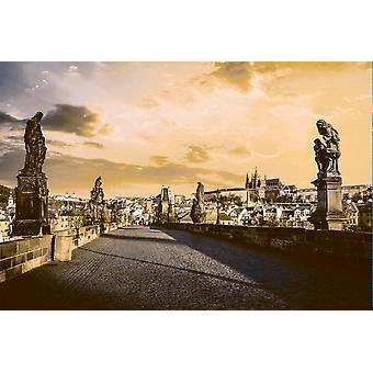 Tapete Wandbild Karlsbrücke und Prag